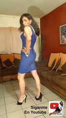 Tight Blue Dress (jenylopez18) Tags: transgender tgirl tg travesti tight tacones tgir crossdresser crossdressing crossdresing woman womanshape white mujer mujersensual mujersexy mezclilla jenylopez18 jeans