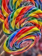 Happy National Lollipop Day (joannemariol) Tags: candy lollipop lollipops nationallollipopday colorful rainbow brightcolors sweet sweetness childhoodmemories childhood iphoneography iphone6 snapseed icolorama