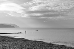 Early Fisherman (MrHRdg) Tags: dawn daybreak morning eweleazefarm beach pontoon jetty fisreman angler angling dorset