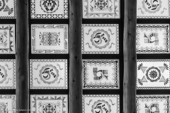 Painted Desert Inn stained glass roof (Vironevaeh) Tags: americanwest arizona art bw blackandwhite design lines nationalparkservice nps nps100 painteddesert painteddesertinn petrifiedforestnationalpark roof southwest stainedglass symmetry theamericanwest thewest travel west