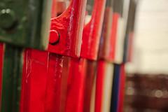 Kidderminster (Mark Dickens) Tags: bokeh stripes signalbox railwaymuseum severnvalleyrailway kidderminster