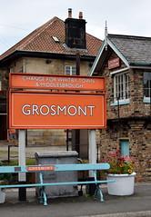 Grosmont Station Sign and Signalbox (Russardo) Tags: england yorkshire grosmont station sign signalbox