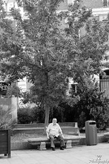 IMG_7418-1 (ZKent.Yousif) Tags: madrid spain man oldman blackandwhite bw alone sitting canon 50mm sigma sigma1750mm street photography