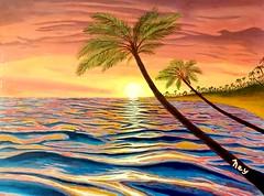 2016-08-26_05-31-20 (johnathonney) Tags: acrylicpainting art emergingartist oceanartist ocean sea tropical beach beautiful painting waves palmtrees sunset sunrise vacation getaway explore holiday lovethesea lovetheworld