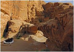 """Natural Bridge and Bedouin Tent"" - Wadi Rum, Jordan (TravelsWithDan) Tags: jordon wadirum desert naturalbridge bedouintent candid hot dry"