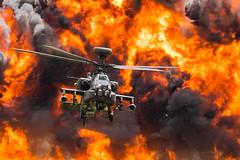 Apocolypse Apache.   Close one on the No Claims Bonus (PIX SW) Tags: rnasyeoviltonairday rnasyeovilton militaryaircraft army apache helicopter ah64 boeingah64 boeingapache boeingah64apache fireworks