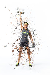 Shattering expectations (ZTW1) Tags: 2016 christina zachwerner athlete body fitness gym health indoor lighting people sports studio studiolighting trainer training workout