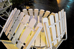 After hours (Roving I) Tags: woodenchairs tables stacked afterhours nightlife cafes danang vietnam exterior outside wet rain weather