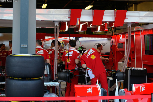 Ferrari garage and pits