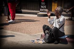 Sidewalk Music Listening (stefanws) Tags: nikond750 artsoul celebration oakland people gospel sidewalk music listen woman california applause street concert streetfair