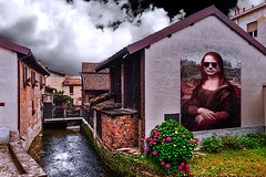 My last mural inspired by the Mona Lisa (Marco Trovò) Tags: marcotrovò hdr canoneos5d vigevano pavia italia italy city città strade street case house palazzi building anticomulino oldmill monalisa