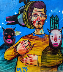 Wall Art (Valencia) (3) (Canon G1X) (1 of 1) (markdbaynham) Tags: wall art graffiti colour design local valencia street urban metropolis city spain spainish es espana espanol valencian canon canonites powershot g1x