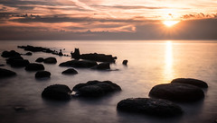 Rising from the sea (cottagearts123) Tags: wreck rock beach sheraton sunset norfolk hunstanton