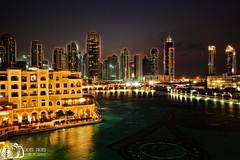 Unreal Dubai - Burj Khalifa Lake - Dubai - United Arab Emirates (D. Pacheu) Tags: khalifa lake dubai pacheu arab united emirates night lac eau tower