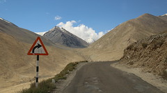 The Right Turn (Rahul Gaywala) Tags: decision julley leh ladakh incredible india himalaya pure bliss blessed kashmir jk himachal mountain indus roadtrip wander travel blue sky clouds siachin glacier ice snow cloud adventure himalayanlandscape karakoram right road sign turn