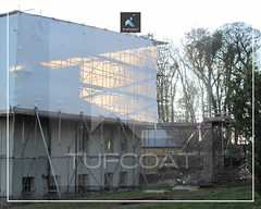 Bittescombe Manor scaffold encapsulation - Tufcoat Shrink Wrap