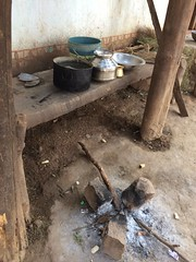 Village home cooking area