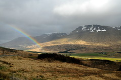 Beinn A'Chreachain (agabarka) Tags: mountain clouds landscape scotland rainbow highland valley d90 nikon90