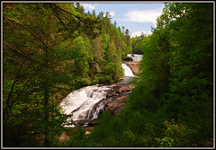 Triple Falls (Jerry Jaynes) Tags: sky mountains water forest river rocks trails waterfalls littleriver triplefalls dupontstateforest transylvaniacounty cedarmountain dupontstateforrest tripodphotography nikkor1685vr nd8xfilter dupontstaterecreationalforest