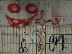Digital Detox Stencil (mikecogh) Tags: smile sign penis graffiti stencil bangkok messy campaign scrotum digitaldetox