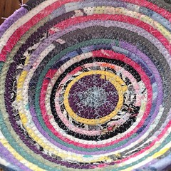 "A member of our 1840 Farm Community named this style of basket for us. Serendipity seems like the perfect way to describe this lovely combination of random colors and patterns. I hope that you like it as much as I do because it is destined for our Etsy Sh • <a style=""font-size:0.8em;"" href=""http://www.flickr.com/photos/54958436@N05/17685870062/"" target=""_blank"">View on Flickr</a>"