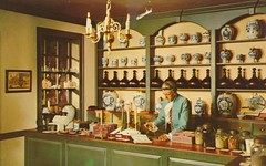Apothecary Shop - Williamsburg, Virginia (The Cardboard America Archives) Tags: shop vintage virginia postcard colonial williamsburg apothecary