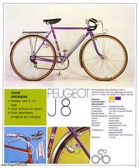Peugeot J8 Racefiets (Tompouce6) Tags: france bicycle speed cycling tour 5 1975 brochure bicyclette velo peugeot fietsen catalogus j8 wielrennen kinderfiets cyclisme racefiets