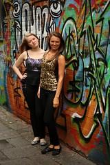 044 (boeddhaken) Tags: gent city 2girls girls dreamgirls sexygirls lovelygirls beautifulgirls cutegirls women sexywomen dreamwomen beautifulwomen greatpose hotpose posing sexypose coolpose duoshoot beautifulface angelface longhair blond brunette