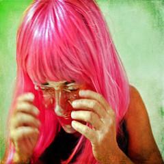 removing our own skin (1crzqbn) Tags: pink me square mask retrato textures survivor selfie hss hmam nationalcancersurvivorsday 1crzqbn
