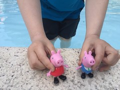 1. Fun at the Pool (Foxy Belle) Tags: peppa pig george toy