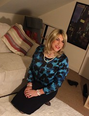 IMG_0834 (bethany_labelle) Tags: office skirt blouse tgirl suit tranny kneeling silky
