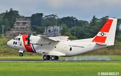 u.s.coast guard hc-27j spartan 2714 landing at shannon from farnborough 18/7/16. (FQ350BB (brian buckley)) Tags: spartan uscoastguard 2714 einn hc27j