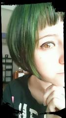 Me, Myself & I (missschokoholic) Tags: portrait people woman verde green girl face lady hair persona donna gesicht indoor grn frau miss farbe mdchen bunt ragazza capelli haare faccia femmina schokoholic