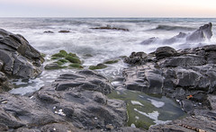 Sedas al atardecer 2_r (jamp_foto) Tags: playa mar atardecer seda mer rock beach sunset sea silk lines mlaga nerja axarqua jampfoto espaa spain water nature light agua olas costa waves coast roca