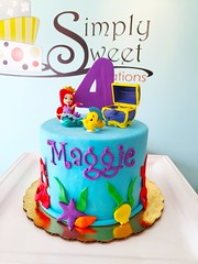 7.9.16 (Simply Sweet Creations) Tags: cake mermaid littlemermaidcake mermaidcakes fondantmermaidcake littlemermaidbirthday