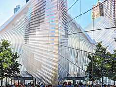 museum & oculus (albyn.davis) Tags: architecture window reflection museum oculus calatrava modern contemporary white trees nyc newyorkcity city urban lines curves shapes