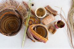 Katherine Gorge cultural boat trip basket weaving