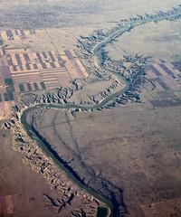 Prairie river (Thankful!) Tags: landscape aerial prairies alberta saskatechwan farmland windowseat
