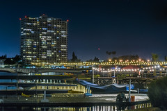 lake chalet docks (pbo31) Tags: oakland california eastbay alamedacounty bayarea nikon d810 color july 2016 summer boury pbo31 urban night black lakemerritt reflection lakechalet boathouse marina sail yellow dock rack rowing 1200 lakeshore apartment