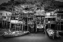 A fisherman's hut on stilt at Tai O fishing village, Hong Kong (kiwibloke888) Tags: fujixt1 xf1024mm taio hongkong fishing village water river travel sampan outboard boat