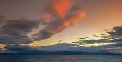Portencross (swkphoto) Tags: sunset pier portencross long exposure mono water arran clouds fishernman waves smooth rocks movement