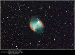 M27_EOS350d_C9_19x4min-1600iso_20160716 (frankastro) Tags: m27 dumbell astronomy nebula deepsky astrometrydotnet:id=nova1649918 astrometrydotnet:status=solved