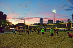 2016-07-18 Carolina Panthers (24) (cmfgu) Tags: baltimore beach volleyball bbv md maryland innerharbor rashfield sand sports court net ball outdoor league athlete game nfl nationalfootballleague players carolinapanthers camnewton joewebb damierebyrd aviuscapers tedginnjr stephenhill tobaispalmer milesshuler braxtondeaver scottsimonson beausandland sunset clouds sky color bikini
