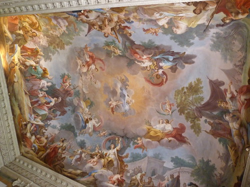Reggia Caserta - Bourbon royal palace, state rooms, ceiling fresco (2)