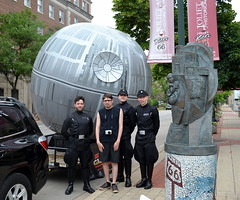 Joliet Public Library Star Wars Day 2016 (Vinny Gragg) Tags: costumes sculpture signs sign statue comics costume illinois route66 cosplay statues comicbook superhero comicbooks giants superheroes marvel marvelcomics deathstar joliet villian villians marveluniverse supervillian jolietillinois imperialofficer themotherroad supervillians willcounty imperialofficers jolietareahistoricalmuseum roadsideattraction roadsideattractions roadsidestatue roadsidegiants roadsidestatues roadsideoddities roadsideart template jolietpubliclibrarystarwarsday2016 starwarsday jolietpubliclibrary jolietlibrary jolietareahistoricalmuseumandroute66welcomecenter themotherroadsculpture