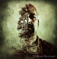The Wyld (micahmoreland) Tags: wild man nature forest dark movie scary woods doubleexposure evil story killer horror demon murderer maniac