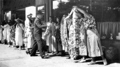 Lei Sellers (jericl cat) Tags: hawaii oahu waikiki honolulu vintage hawaiiana hawaiian history photo photos photograph snapshot dockside lei sellers selling leis tropical tiki 1930s