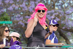Pink hair - Jacaranda Parade 2015 (sbyrnedotcom) Tags: 2015 people events grafton jacaranda parade rural town drag crossdressing pink hair smile nsw australia