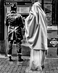 CULTURES IN CONTRAST (panache2620) Tags: bw art monochrome canon eos women culture study 40mm 70 contrasts 70d