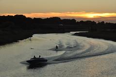 Water-skiing on River Blackwater (amanda.parker377) Tags: powerboat waterskiing aftersunset riverblackwater maldon essex england summer august watersport